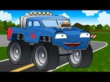 ✔ Race MONSTER TRUCK on the obstacle course | Trucks For Children | Videos for kids