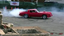 Chevrolet Camaro Muscle car! Burning Tires +  Engine Revs V8 Sound