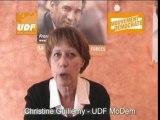Interview de Christine Guillemy UDF mouvement démocrate