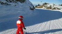 Alex s'éclate au ski (mettre le son)
