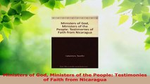 Read  Ministers of God Ministers of the People Testimonies of Faith from Nicaragua PDF Free