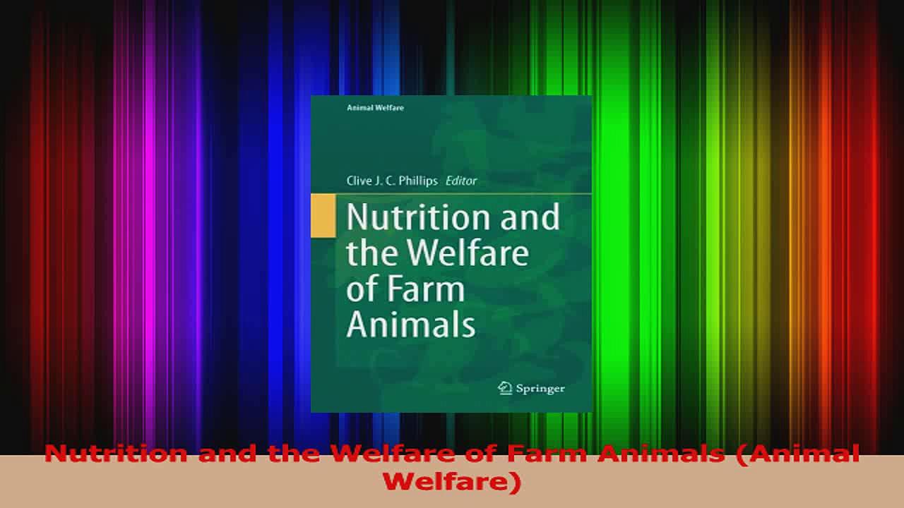 PDF Download  Nutrition and the Welfare of Farm Animals Animal Welfare PDF Full Ebook