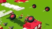 Fire trucks for children kids. Fire trucks responding. Construction game. Cartoons for chi