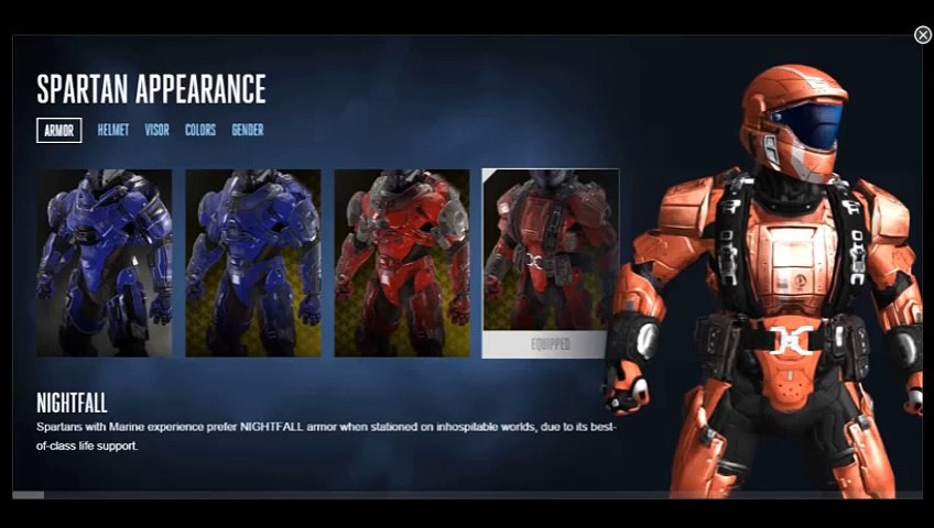 Halo 5 Customization Armor Air Assault Video Dailymotion