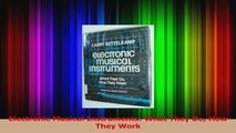 PDF Download  Electronic Musical Instruments What They Do How They Work Read Online