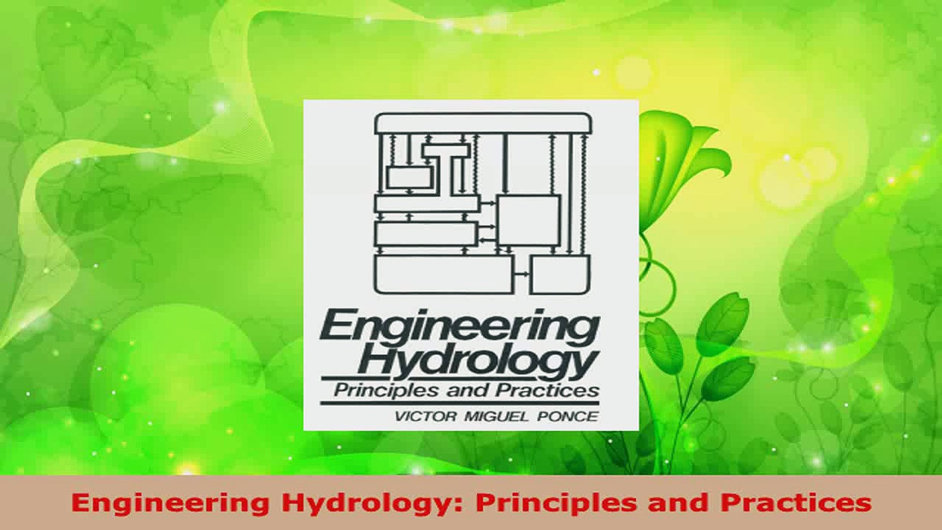 Principles and Practices Engineering Hydrology