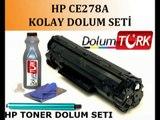 wwwtutakbilisim.com Hp CE278A Toner Dolumu Video2)