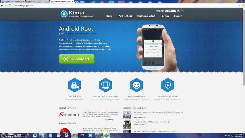Root android via Kingoroot apk