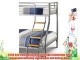 Happy Beds Bunk Bed Atlas Triple Sleeper Solid Metal With 2x Orthopaedic Mattresses 3' Single