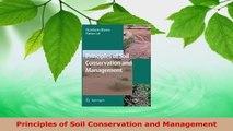 PDF Download  Principles of Soil Conservation and Management PDF Full Ebook
