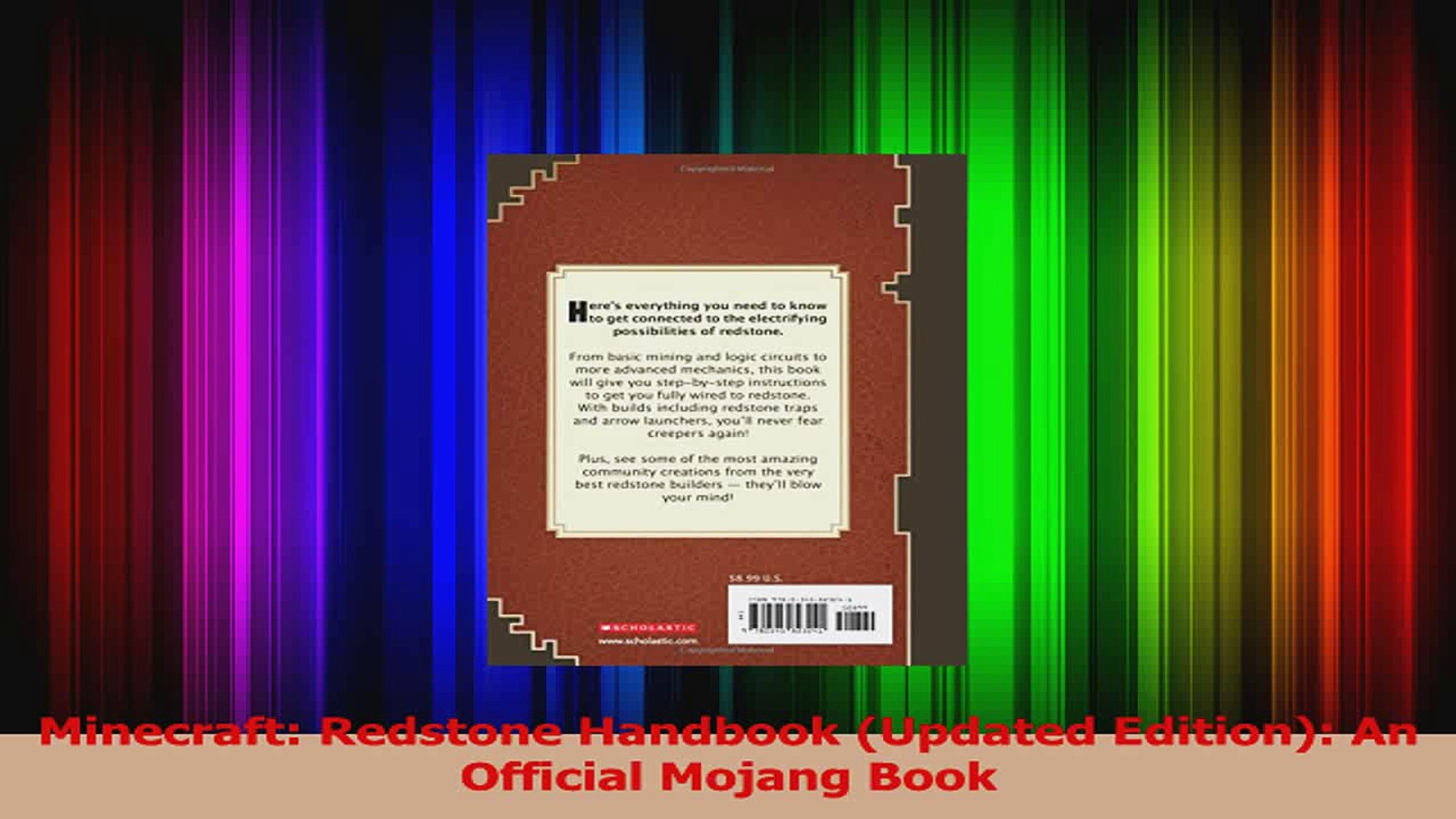 PDF Download Minecraft Redstone Handbook Updated Edition An Official Mojang  Book Read Online