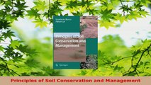 Download  Principles of Soil Conservation and Management Ebook Online