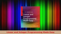PDF Download  Linear and Integer Programming Made Easy Download Online