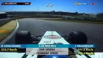 25 ans de course F1 sur le circuit d'Interlagos. Même circuit mais pilotes et voitures différentes