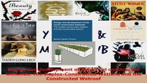 PDF Download  Design and development of two novel constructed wetlands The DuplexConstructed Wetland Read Full Ebook