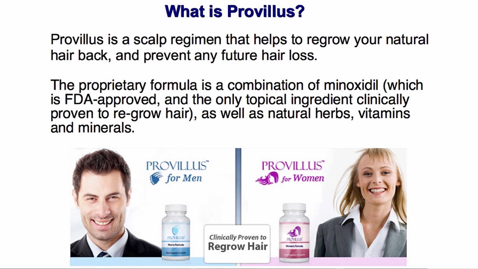 Where Can I Buy Provillus In A Store Hair Restoration Video