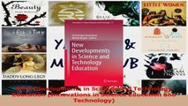 PDF Download  New Developments in Science and Technology Education Innovations in Science Education and PDF Online