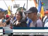 Simpatizantes de la oposición apoyan en Caracas a sus asambleístas