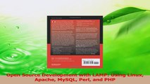 PDF Download  Open Source Development with LAMP Using Linux Apache MySQL Perl and PHP Read Full Ebook