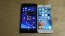 Microsoft Lumia 950 Windows 10 Edge Browser vs. iPhone 6S Safari Browser!