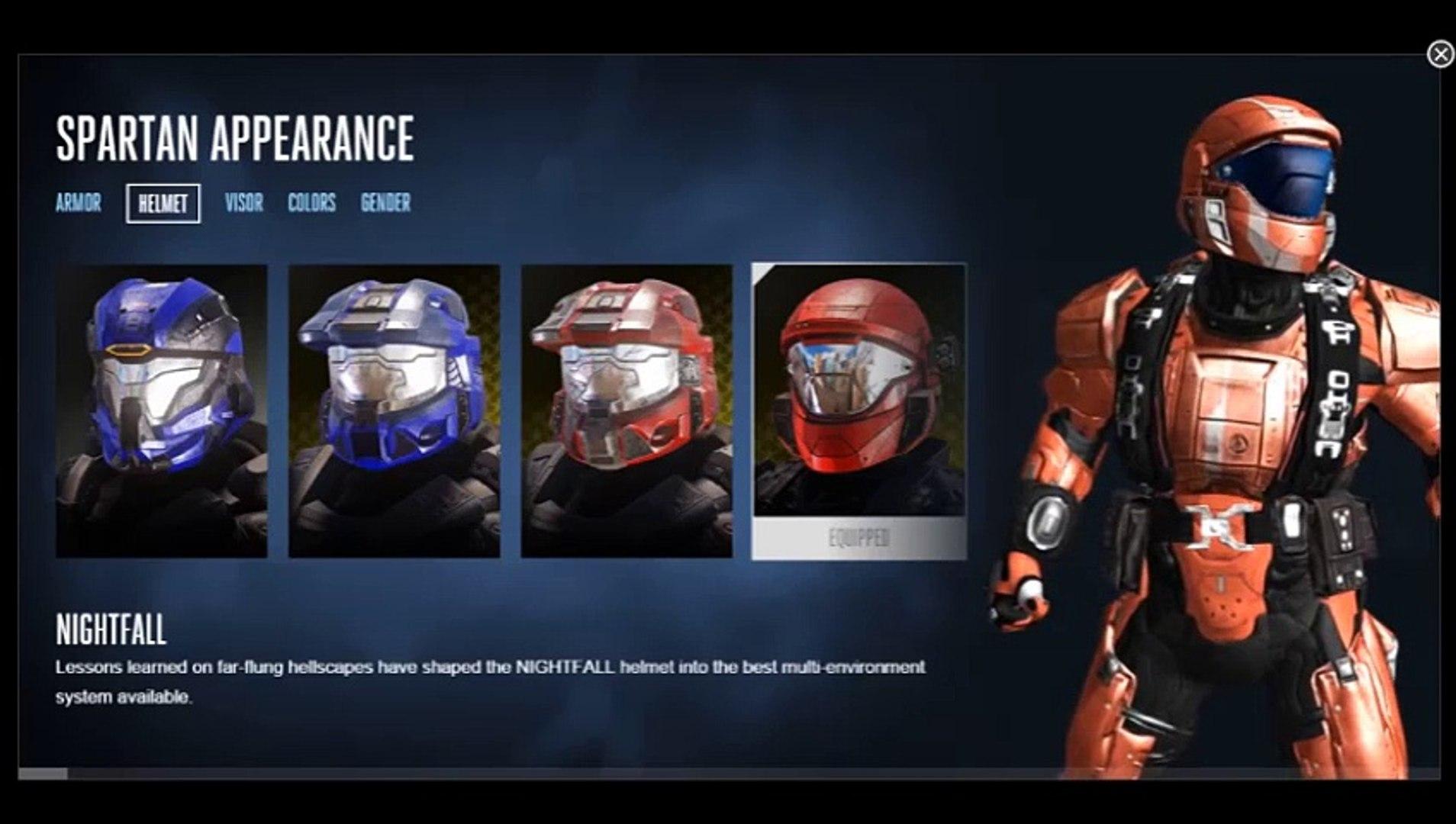 Halo 5 Customization Helmets Nightfall Video Dailymotion