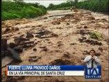 Fuerte lluvia afectó la isla Santa Cruz en Galápagos
