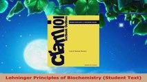 Read  Lehninger Principles of Biochemistry Student Text Ebook Free