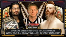 Reigns vs. Sheamus - Mr. McMahon Guest Ref. for WWE World Heavyweight Title- WWE Raw, Jan. 4, 2015