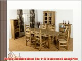 Corona Extending Dining Set (1 8) in Distressed Waxed Pine