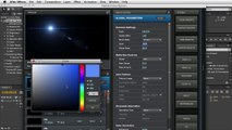 Adobe After Effects - Moving Clouds Tutorial - Lens Flare Adjustment