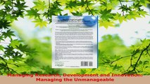 Download  Managing Research Development and Innovation Managing the Unmanageable PDF Free