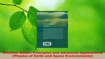 PDF Download Weather Radar: Principles and Advanced Applications