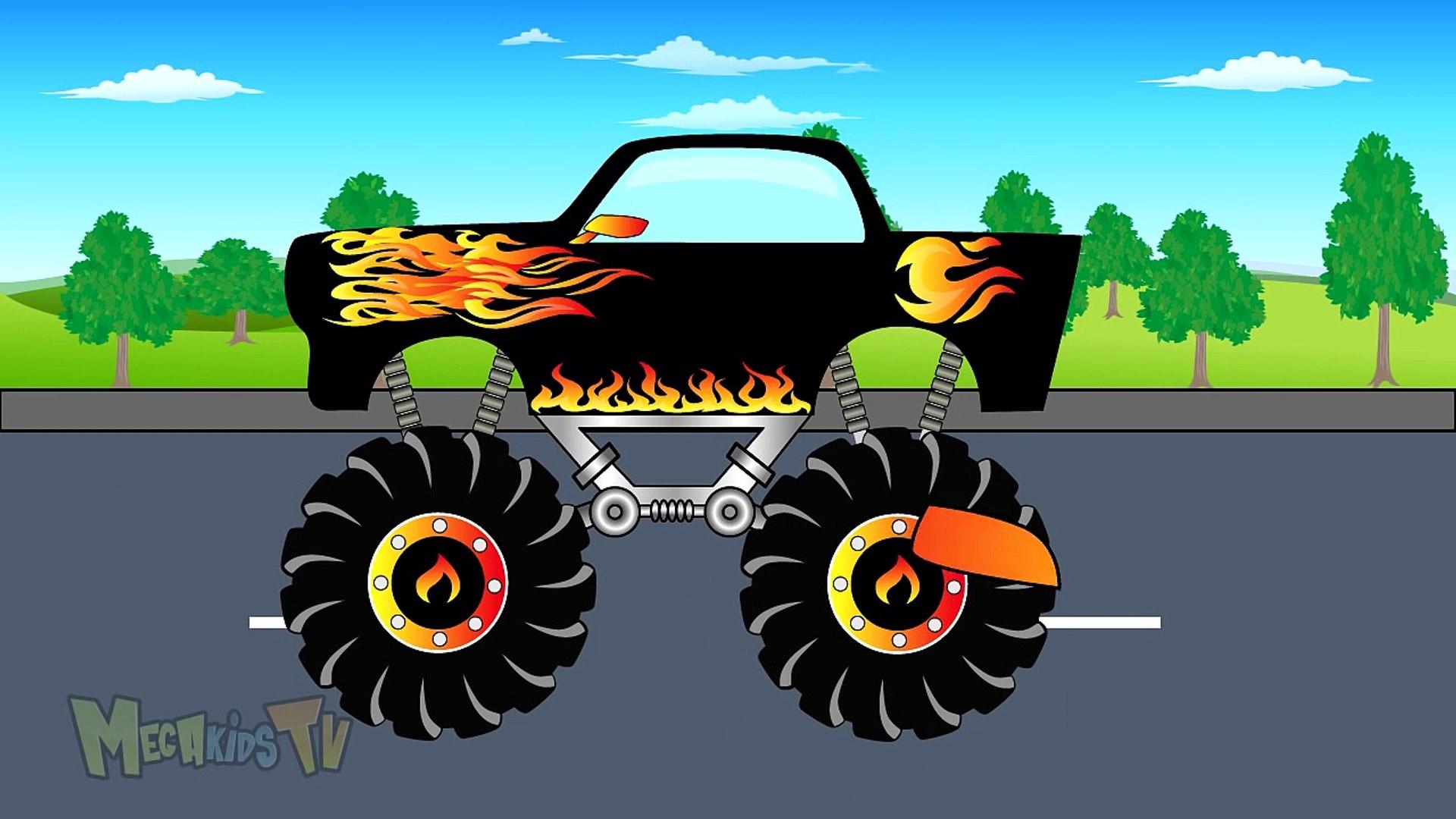 Police Truck Vs Black Truck - Video For Kids - Mega Kids Tv