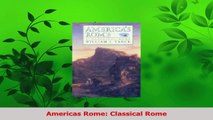 Download  Americas Rome Classical Rome Ebook Online