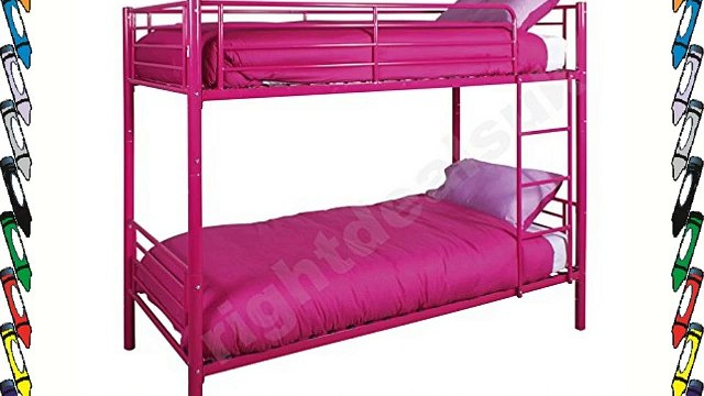 Florida Contemporary Modern Metal 3ft Single Bunk Bed Strong Alloy Frame in Pretty Princess