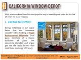 Vinyl Replacement Windows in orange county