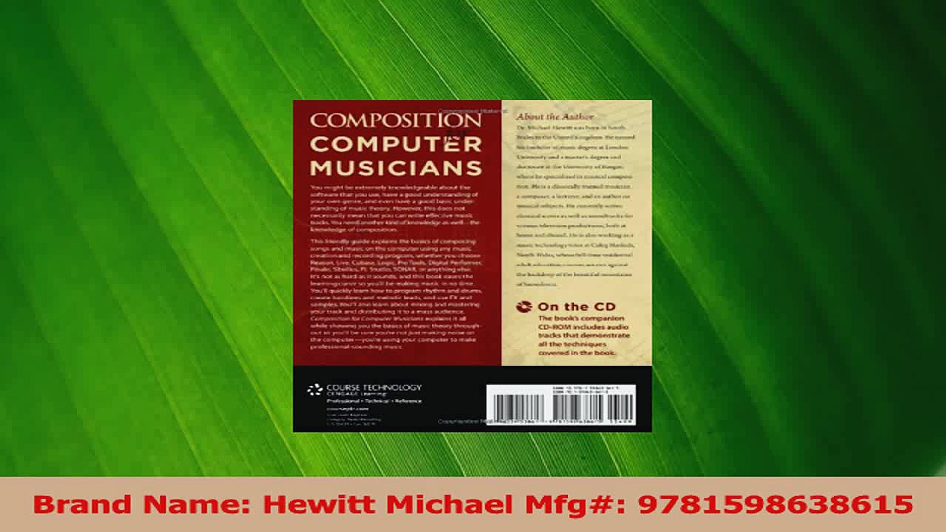 PDF Download  Composition for Computer Musicians PDF Online
