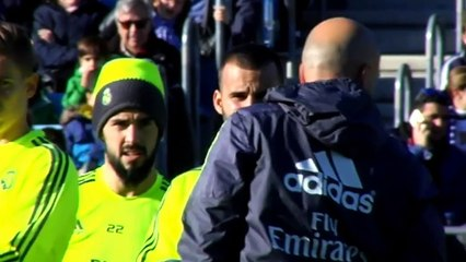 Zidane's first day at Real helm