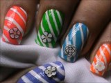 Candy cane - - Nail art designs _ superwowstyle Prachi