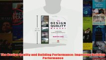 The Design Quality and Building Performance Improving Building Performance