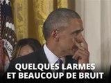 L'Amérique s'émeut des larmes de Barack Obama