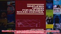 Simplified Design for Building Sound Control ParkerAmbrose Series of Simplified Design
