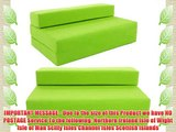 SOFABED - LIME GREEN double Sofa bed chair futon