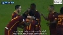 Alessandro Florenzi Goal Chievo 0 - 2 AS Roma Serie A 6-1-2016