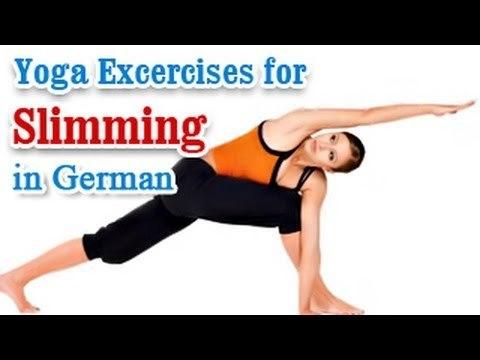 Yoga Excercises for Slimming - Yoga Postures & Pranayama for Slimming in German
