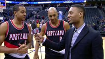 Damian Lillard shows off his interview skills!