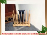 Wooden Welly Rack/ Stand ideal for Wellington Boots Riding Boots Walking Boots (6 Pair)