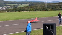 RC TURBINE JET CRASH !!! YAK 130 BIG SCALE TURBINE MODEL JET FLIGHT ON A WINDY DAY