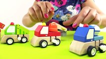 Kids Toy Cars Collection & Railway Train, Fire Truck & Cement Mixer Moley Demo (Children