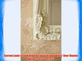Carved Louis Cream Ornate French Frame Wall / Over Mantle Mirror - 35.5 x 47.25